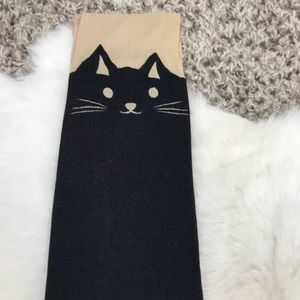 Woman Hosiery Footed Tights Cat Pattern Sz S